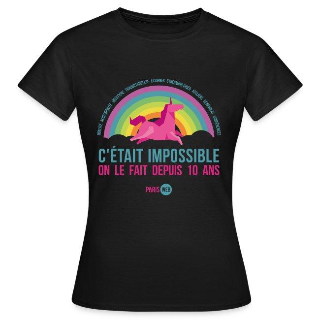 C'était impossible - Tshirt Femme