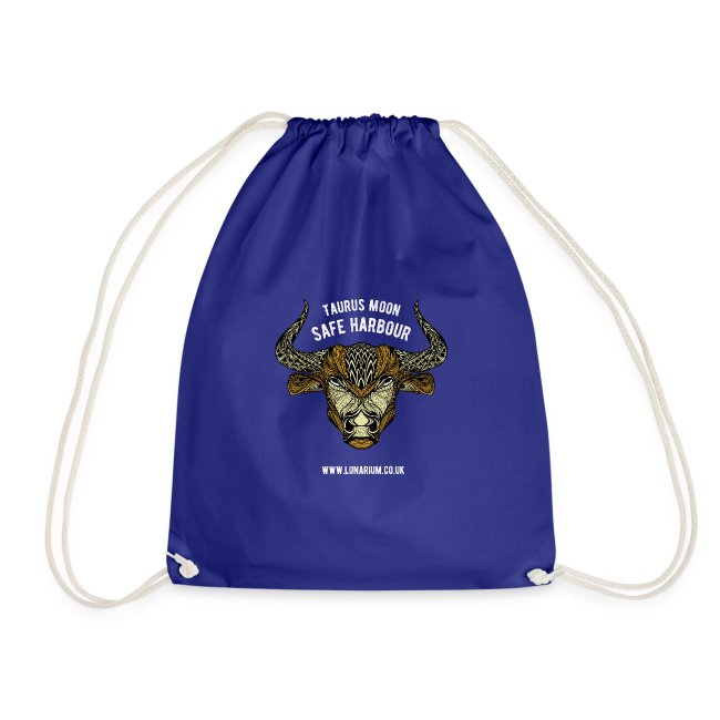 Taurus Moon Drawstring Bag