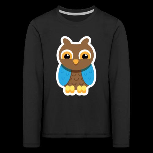 Owlford - Børne premium T-shirt - Børne premium T-shirt med lange ærmer