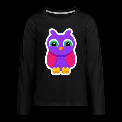 Owlford Violet - Børne premium T-shirt - Teenager premium T-shirt med lange ærmer
