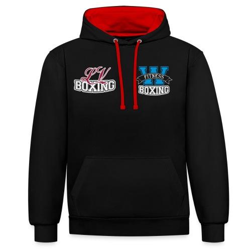 NEW! UNISEX Sweater met logos in kleur - Contrast hoodie