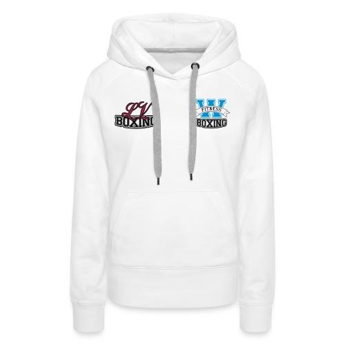 Vrouwen Jack wit met kleur logo - Vrouwen Premium hoodie