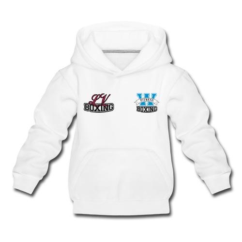 Kinder jack wit met kleur logo - Kinderen trui Premium met capuchon