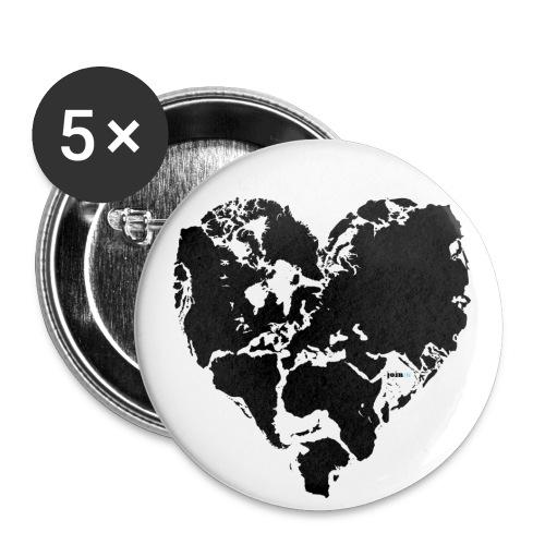 Weltfrieden - Buttons mittel 32 mm