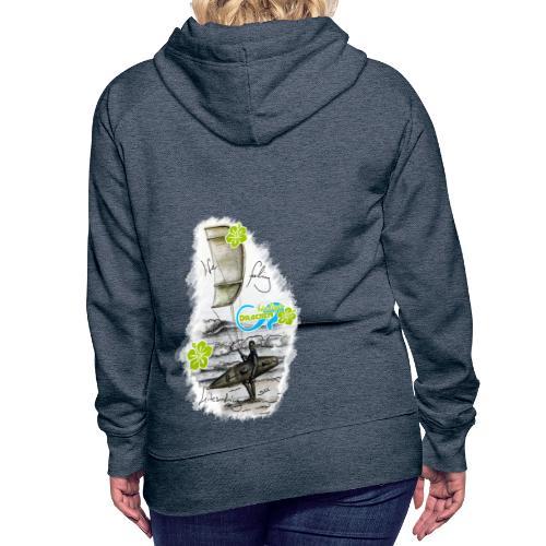 Drachenbändiger Spezial Mädls Kapuzenpullover – Kitesurfer - Frauen Premium Hoodie