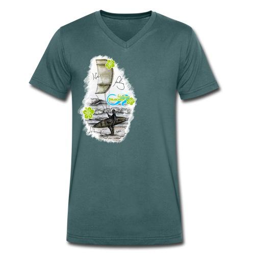 Drachenbändiger Spezial Bursch'n V-Shirt – Kitesurfer - Männer Bio-T-Shirt mit V-Ausschnitt von Stanley & Stella