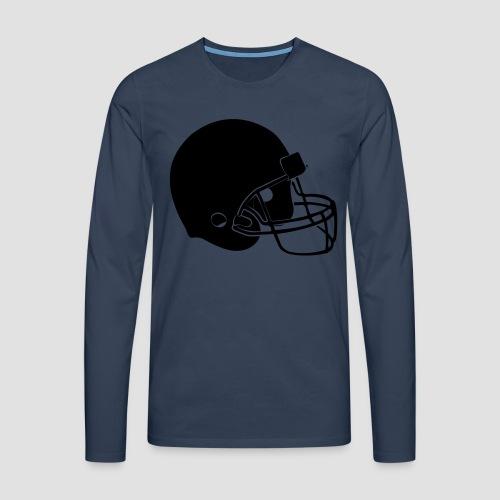 Football Helm - Männer Premium Langarmshirt