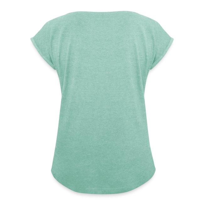 Schwebehaus auf grünem Frauenshirt