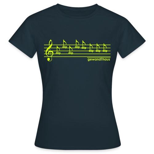 Döp Döp Döp (marine-gelb) - Frauen T-Shirt