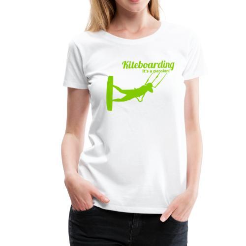 Kiteboarding Passion Mädls T-Shirt – Ralley - Frauen Premium T-Shirt