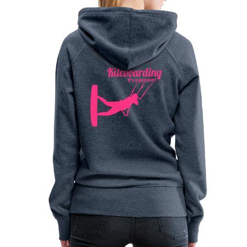 Kiteboarding Passion Mäds Kapuzenpullover – Ralley - Frauen Premium Hoodie
