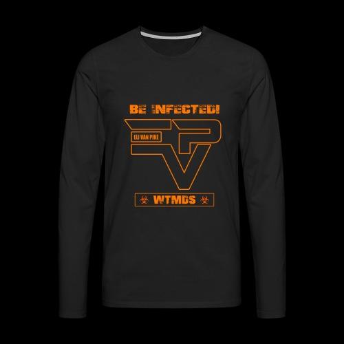 EVP_WTMDS_ORANGE Herren Langarm-Shirt XXL schwarz - Männer Premium Langarmshirt