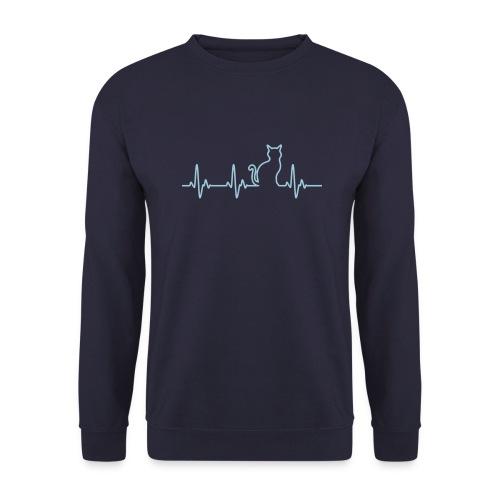 Herzschlag Katze - Männer Pullover