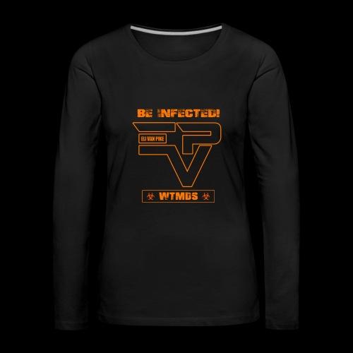 EVP_WTMDS_ORANGE Damen Premium Langarmshirt schwarz - Frauen Premium Langarmshirt