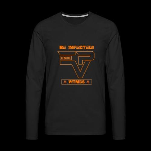 EVP_WTMDS_ORANGE Herren Premium Langarmshirt schwarz - Männer Premium Langarmshirt
