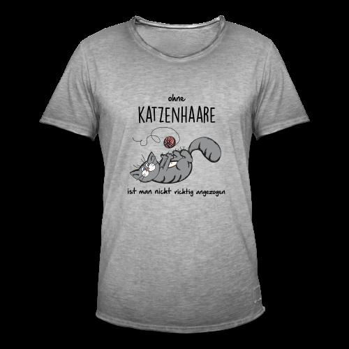 ohne Katzenhaare - Männer Vintage T-Shirt