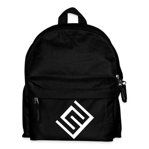 Svart ryggsäck med vit logo - Ryggsäck för barn