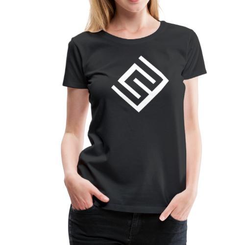 Svart t-shirt med logo på magen (Damstorlek) - Premium-T-shirt dam