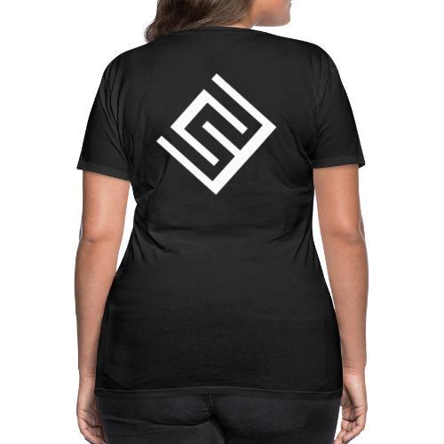 Svart t-shirt med logo på ryggen (Damstorlek) - Premium-T-shirt dam