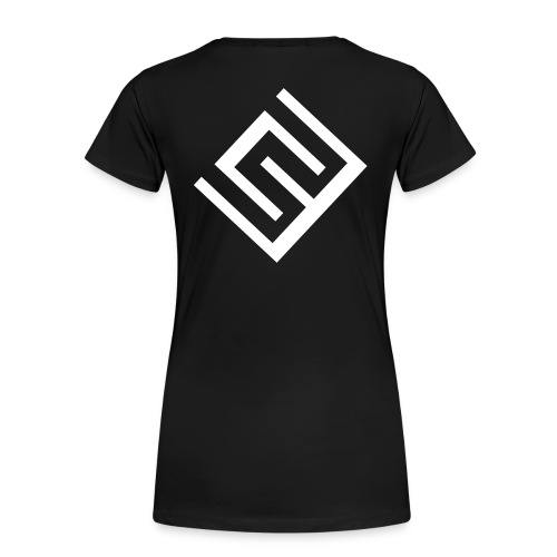 Svart tshirt dam logo på rygg - Premium-T-shirt dam