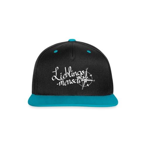 Lieblingsmensch Cap - Kontrast Snapback Cap