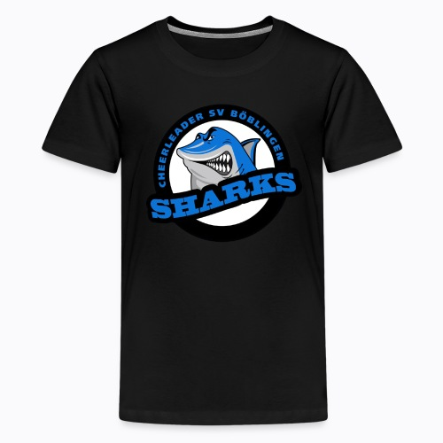 Sharks Cheerleader Böblingen T-Shirt Teenager Logo groß - Teenager Premium T-Shirt