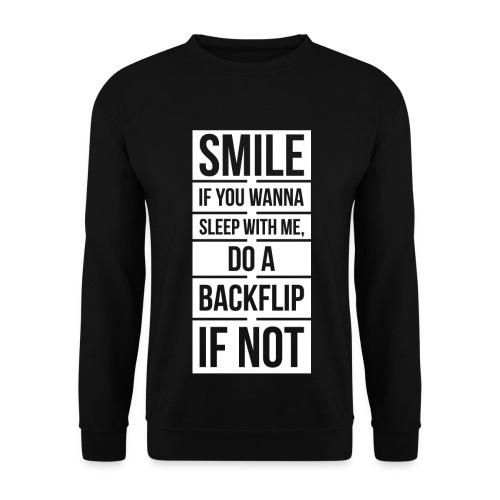 Men's Pickup Line Sweater (White) - Men's Sweatshirt