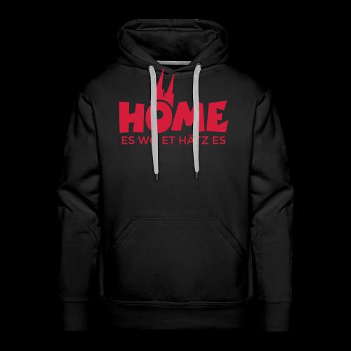 Home es wo et Hätz es Hoodie - Männer Premium Hoodie