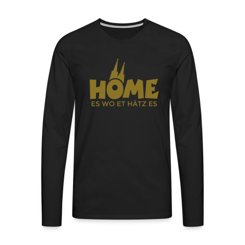 Home es wo et Hätz es (Gold) Langarmshirt - Männer Premium Langarmshirt