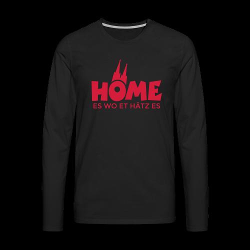 Home es wo et Hätz es Langarmshirt - Männer Premium Langarmshirt