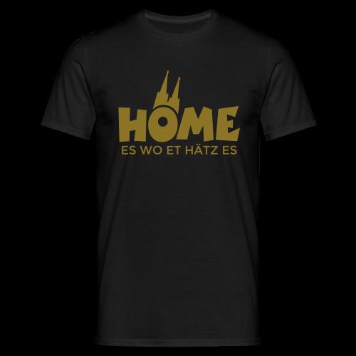 Home es wo et Hätz es (Gold) T-Shirt - Männer T-Shirt