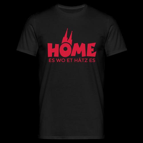 Home es wo et Hätz es T-Shirt - Männer T-Shirt