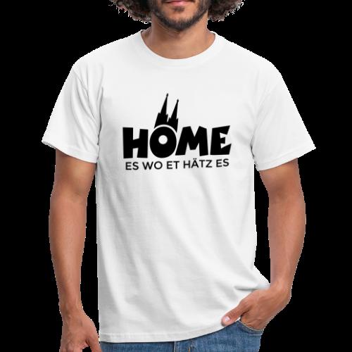 Home es wo et Hätz es (Schwarz) Kölsche Heimat - In Köln Zuhaus - Männer T-Shirt