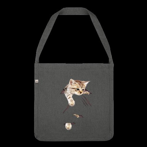 Kätzchen - Schultertasche aus Recycling-Material