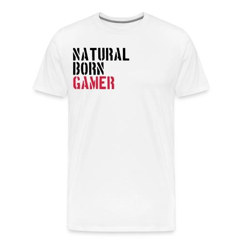 #TeamBambi Natural Born Gamer Männer Shirt - Männer Premium T-Shirt