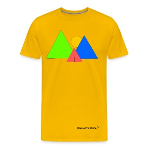 In front the Mountains  - Männer Premium T-Shirt