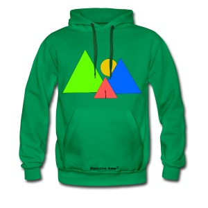 In front the Mountains  - Männer Premium Hoodie