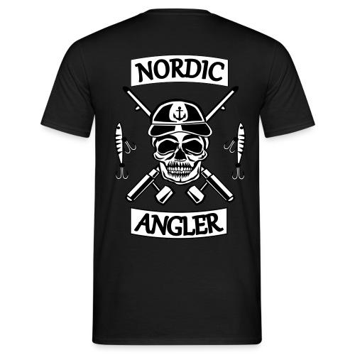 Nordic Angler Totenkopf - Männer T-Shirt