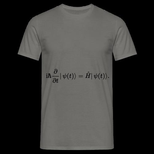 Schrödinger schwarz - Männer T-Shirt