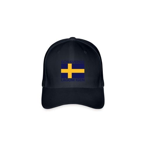 Keps: Gör Sverige lagom igen - Flexfit basebollkeps