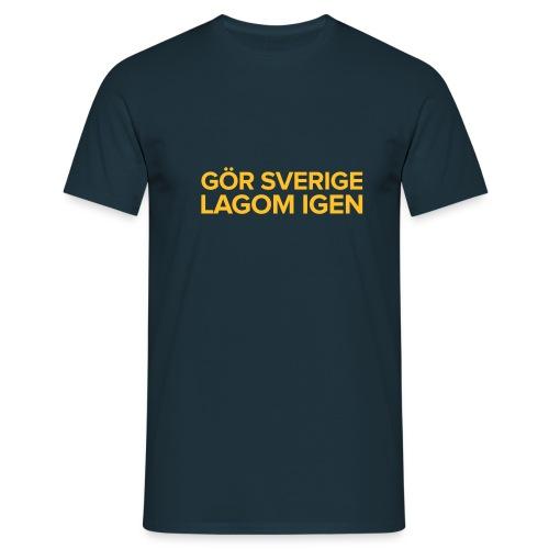 T-shirt: Gör Sverige lagom igen - T-shirt herr