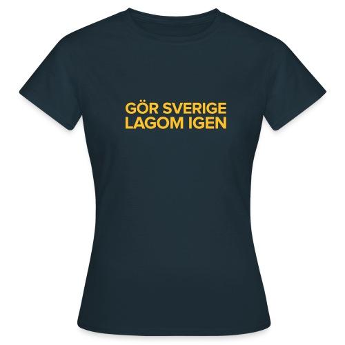 T-shirt: Gör Sverige lagom igen - T-shirt dam
