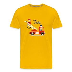 'Firefighter' Fiete Shirt Men - yellow - Männer Premium T-Shirt