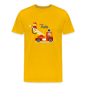 'Firefighter' Fiete Shirt Men - yellow - Männer Premium T-Shirt