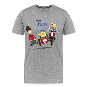 'Crazy Race' Fiete Shirt Men - grey - Männer Premium T-Shirt
