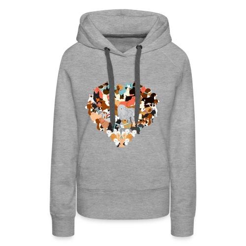 Heart of dogs / Hoody - Frauen Premium Hoodie