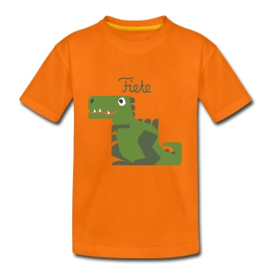 'Rex' Fiete Kids Shirt - orange - Kinder Premium T-Shirt