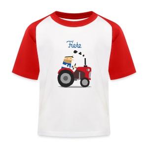 'Farm' Fiete Kids Baseball Shirt - red - Kinder Baseball T-Shirt