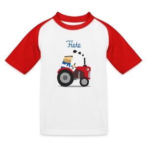 'Farm' Fiete Kids Baseball Shirt - red - Kinder Baseball T-Shirt