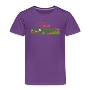 'Kroko' Fiete Kids Shirt - purple - Kinder Premium T-Shirt